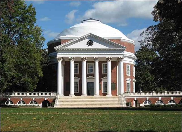 The Rotunda at the University of Virginia, in Charlottesville, Virginia, October 2006. Photo: Aaron Josephson / Wikimedia