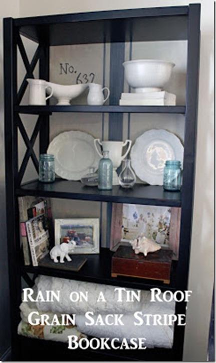 Grain Sack Stripe Bookcase