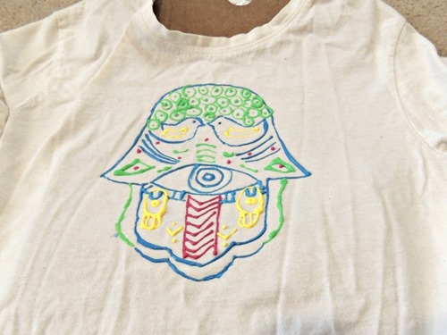 Totally Tulip Fabric Paint T-Shirts - Hamsa
