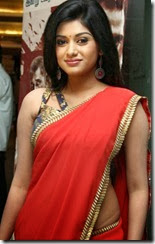 Oviya Hot Photos in Red Saree @ Madha Yaanai Koottam Audio Launch