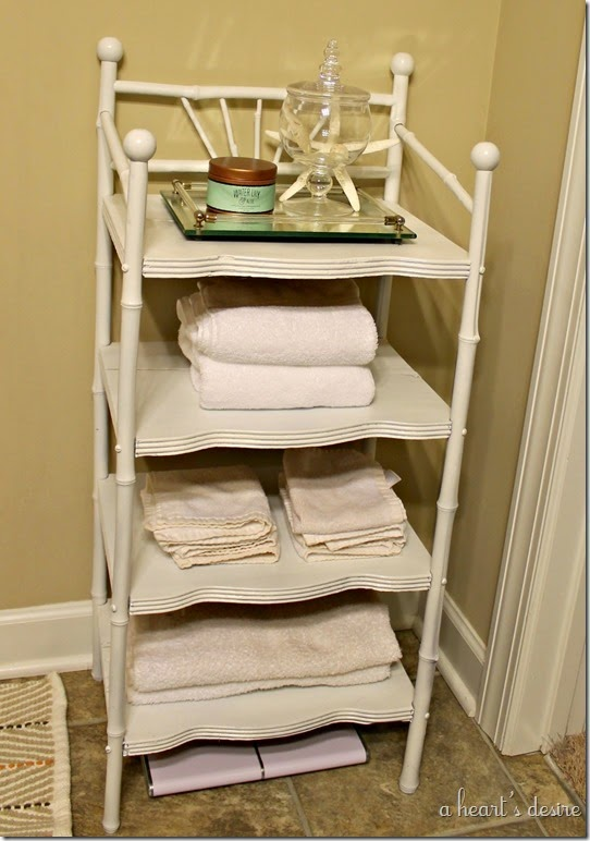 White Bath Shelf