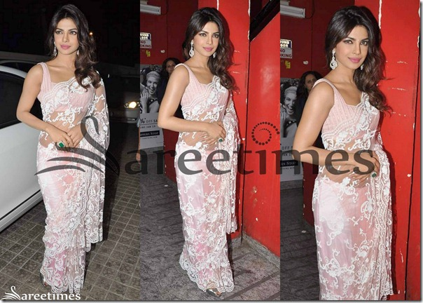 Priyanka_Chopra_Pink_Georgette_Saree