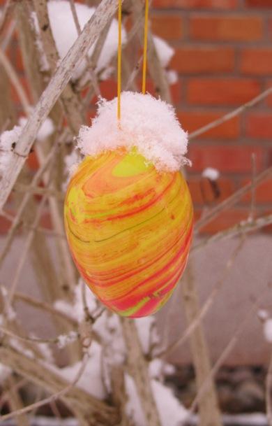 Frischer Ei-Schnee