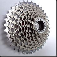 Cogset.  Remove this to get to the spokes.