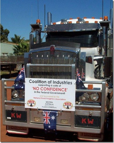 19 8 2011 Convoy of No confidence truck