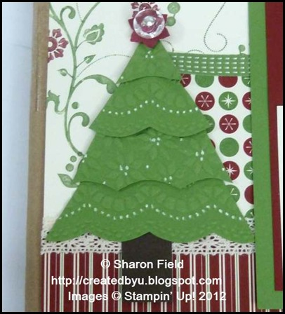 embossed and die cut layered Christmas tree