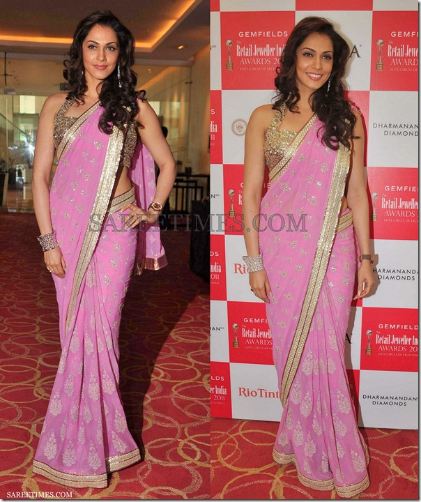Isha_Koppikar_Pink_Saree