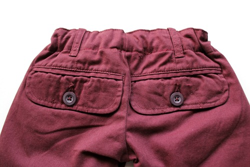 maroon pants back