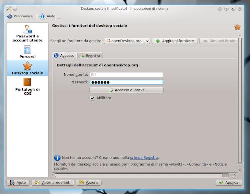 Desktop Sociale in KDE