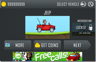 Hill Climb Racing Unlimited Coin/Money Game Cheat