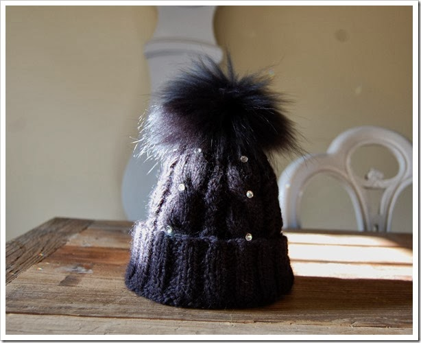 ALPINE ANGEL BLACK ALPACA BEANIE2
