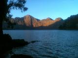 Early morning sunshine at Rinjani's Segara Anak lake (Dan Quinn, November 2013)