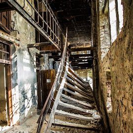 Stair to nowhere by Cristi Florea - Buildings & Architecture Decaying & Abandoned ( stair, arhitecture )