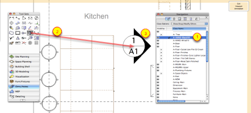 Elevation Marker Plan : Create and add interior elevation marker parametric