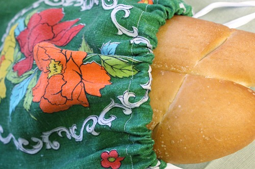 Vintage Tea Towel Bread Bag