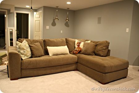 Thrifty Decor Chick: How I space plan (and a basement sofa!)