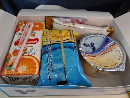 47. Mancare la bord - Iran Air.JPG