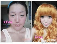 chinese girls makeup before and after  (14)