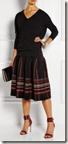 M Missoni Plaid Midi Skirt