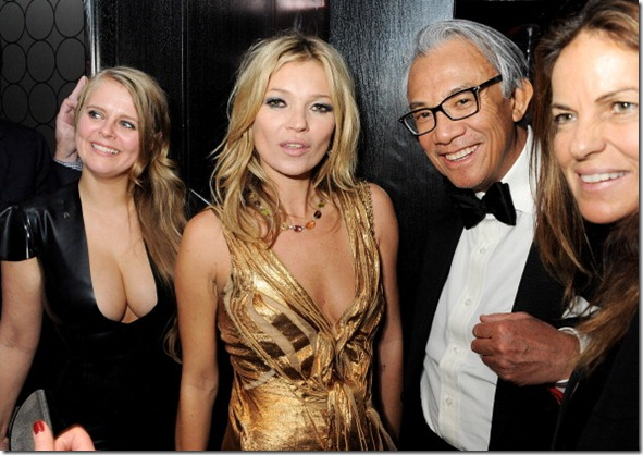 Fiona Young, Kate Moss, Sir David Tang and Lucy Tang