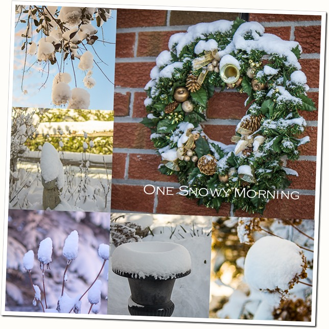 One Snowy Morning collage