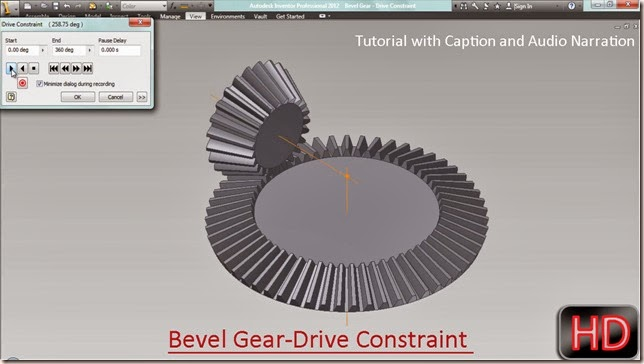Bevel Gear-Drive Constraint