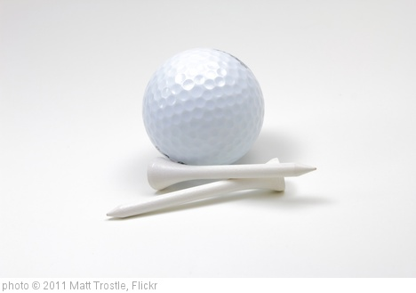 'Golf Ball and Tees on White Background' photo (c) 2011, Matt Trostle - license: http://creativecommons.org/licenses/by/2.0/
