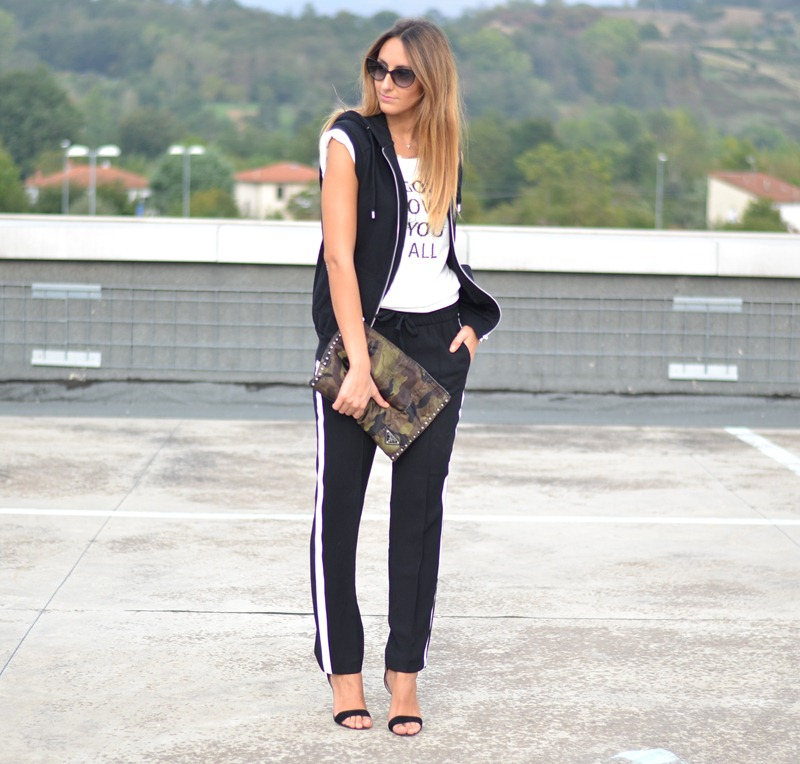 Barbara Boner, Primark sandals, Zara Pants, Prada Bag, Fashion Blogger, Fashion Blog, Dior Sunglasses, Sporty, Chic, Sporty and Chic
