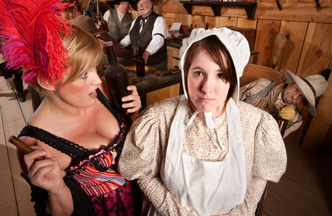 saloon girl & farm wife