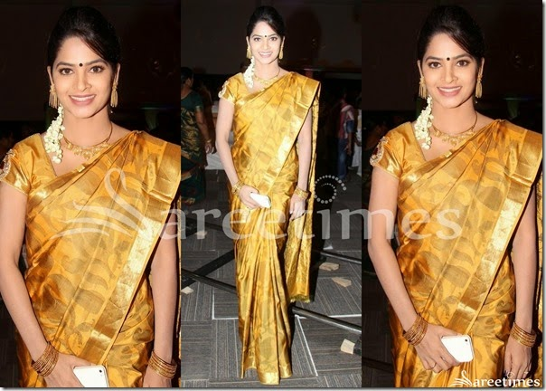 Mustard_Traditional_Silk_Saree