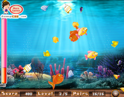 Screenshot of Match the fish pairs