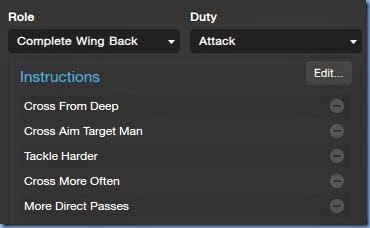 Complete Wing Back in FM 2014 tactics