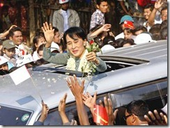 Suu Kyi campaigning