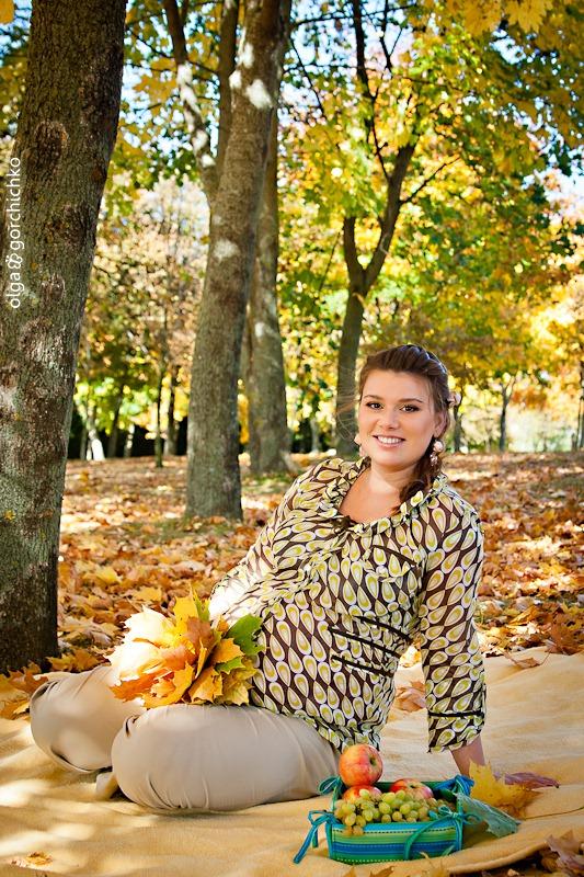 Осенняя фотосессия беременности. Аня и Антон. Фотосессия беременности Гродно