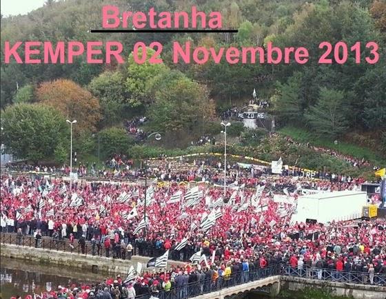Kemper Manifestacion dels Bonets Roges Bretanha