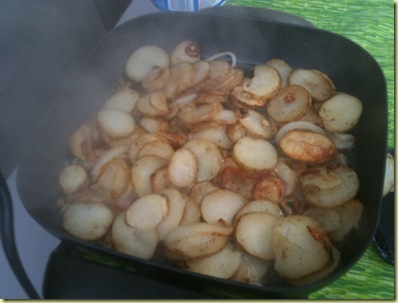 potatoes almost done