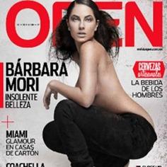 Bárbara Mori en topless en la revista Open