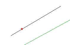 Red on line point