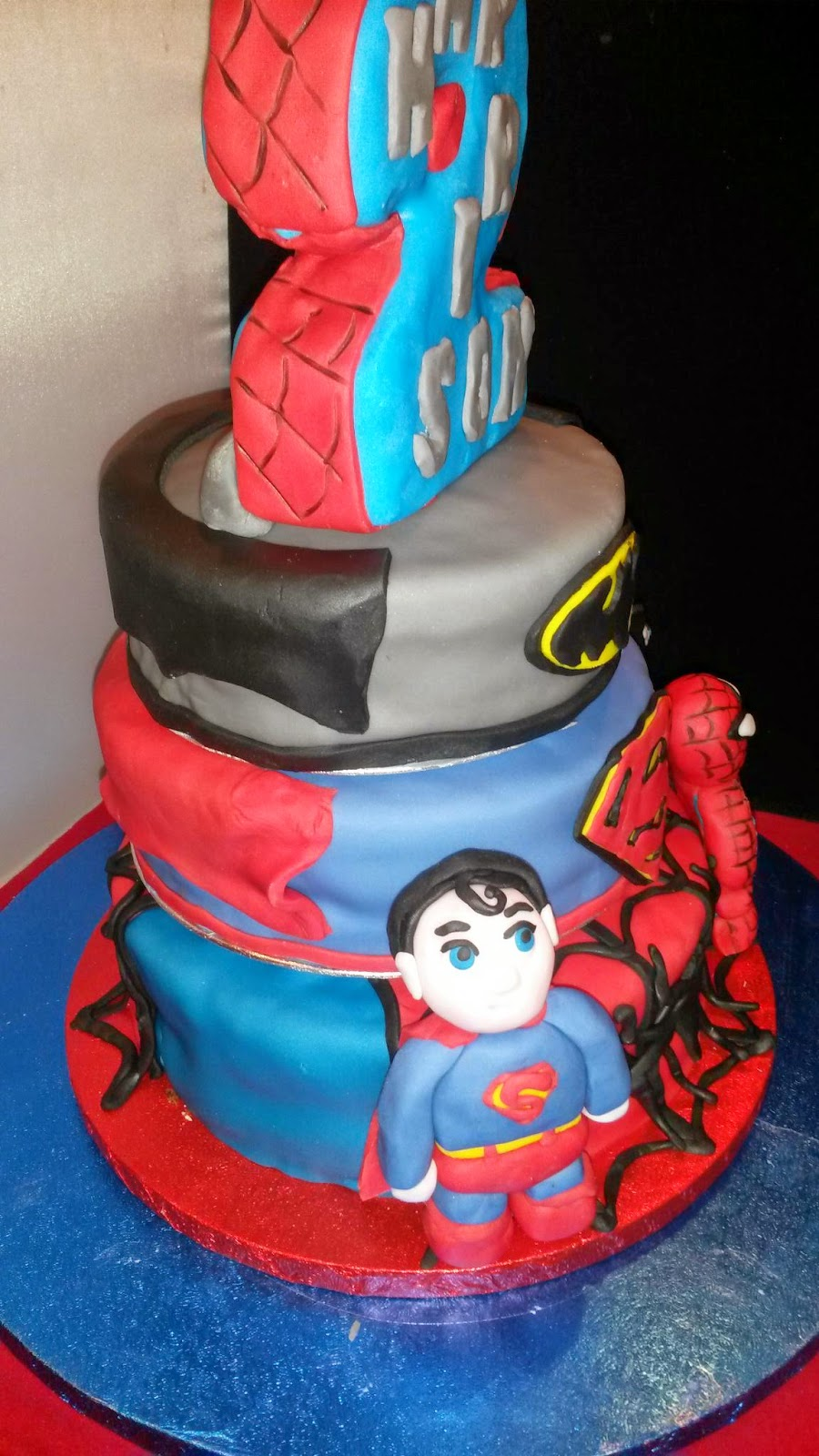 Harrisons Superhero 2nd Birthday Cake Fricingonthecake Blog
