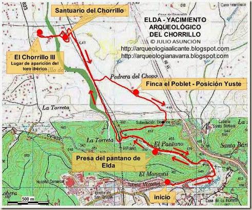 Mapa ruta El Chorrillo