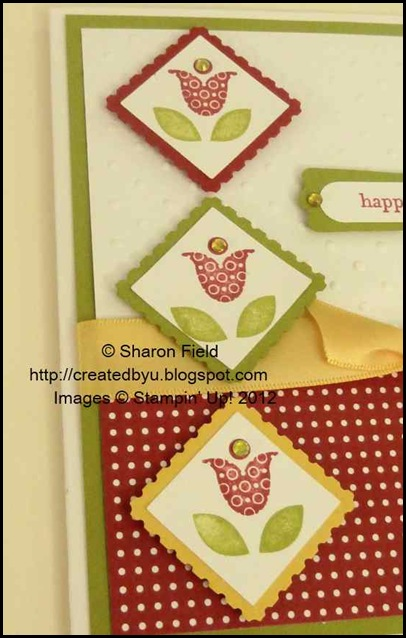 tip:  punch one inch squares then stamp
