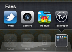 favorites folder iphone