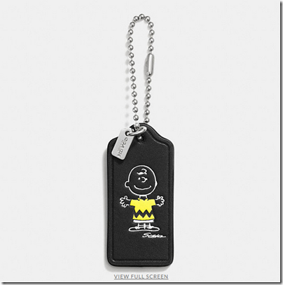COACH X Peanuts leather hangtag - USD 20 - black 01