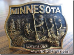 Minnesota Voyager belt buckle