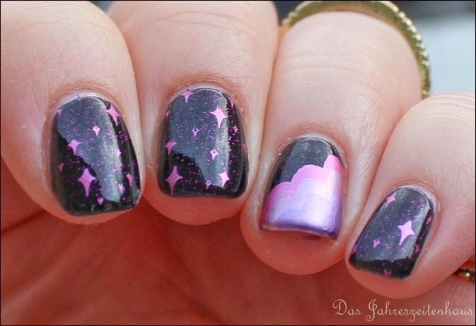 Nails Craze Fantasy Sky Pegasus Nail Art Pink Clouds 5