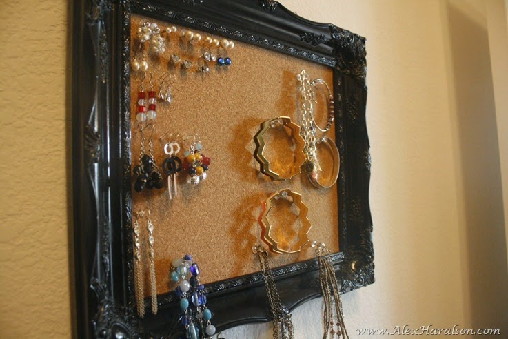 DIY Framed Jewelry Organizer14