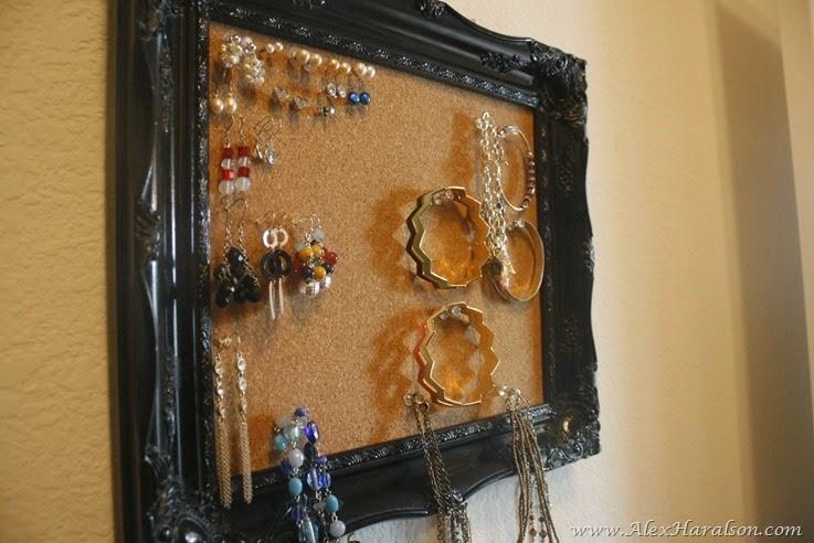 DIY Framed Jewelry Organizer14