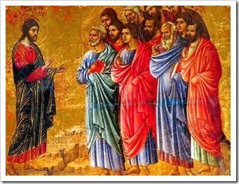 Jesus com os apostolos