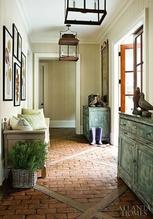 brick floor entry