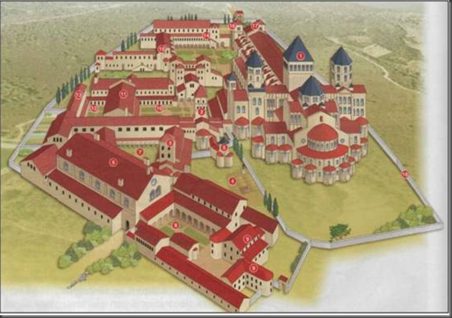 complesso ricostr monast abbazia Cluny